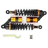 Amortiguadores Motocicleta,Universal Motocicleta Amortiguadores de aire Amortiguadores de acero inoxidable Suspensión de metal Amortiguador de resorte Piezas Moto de repuesto Accesorios