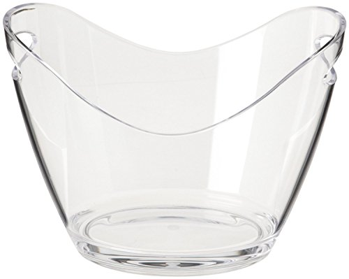 Agog - Ice Bucket Clear Acrylic 3.5 Liter Good for up to 2 Wine or Champagne Bottles Ice Bucket (1)