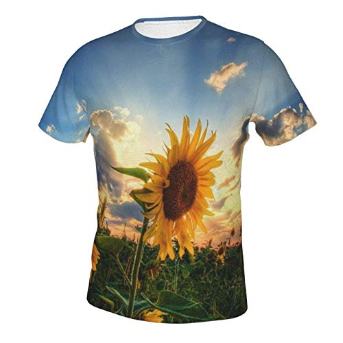 MayBlosom Camiseta de manga corta para hombre, niños, jóvenes, tallas extendidas, hermoso sol girasol natural (93)