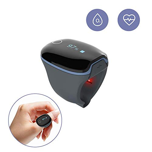 Health Ring Tracker, Oxygen Levels Heart Rate Monitor w Vibration Feedback Free APP PC Report for...