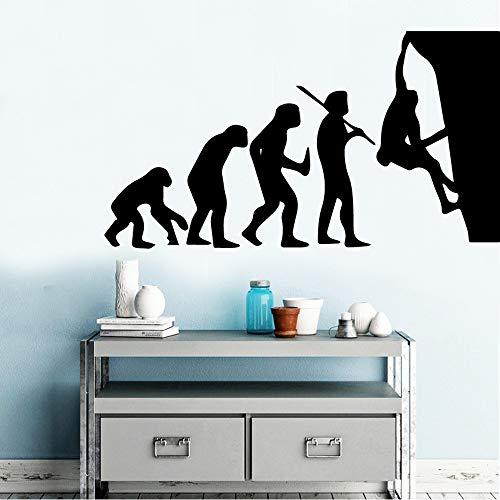 JXNY Evolution Klettern Umweltschutz Vinyl Aufkleber Für Kinderzimmer Dekoration Room Decor Wallstickers43x78cm