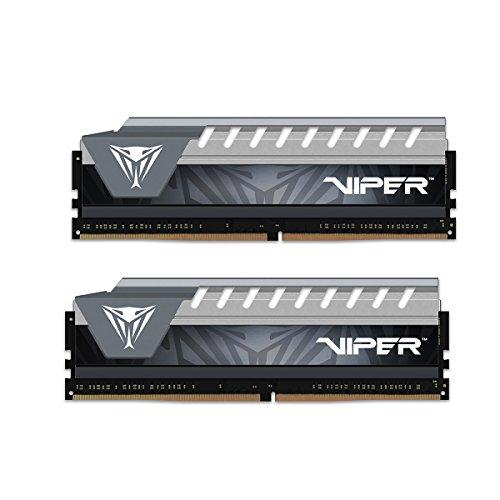 Viper Elite DDR4 2666 16GB (2x8GB) C16 Kit di Memoria Gaming XMP 2.0 Nero/Grigio PVE416G266C6KGY