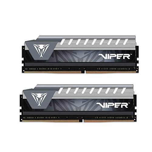 Patriot Memory Viper Elite DDR4 2666 16GB (2x8Go) C16 Kit de Mémoire RAM Haute Performance XMP 2.0 Noir/Gris