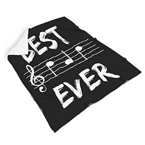 Hothotvery Manta de peluche con la mejor música, papá jamás regalo, tamaño grande, bohemia, para la mayoría de las personas, color blanco, 110 x 140 cm