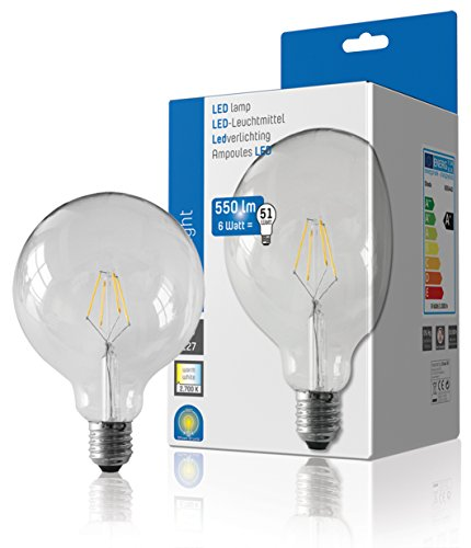 Shada LED Filament G125 E27 600lm 2700K 600443