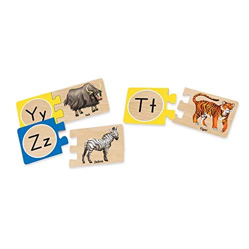 『Melissa & Doug Self-Correcting Alphabet Wooden Puzzles With Storage Box (52 pcs)』の4枚目の画像