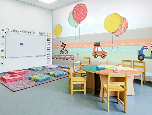 """3D Bunte Luftballons 71301 Geschäft Tapeten Drucken Abziehbild Deko Innen Wandgemälde Selbstklebend Tapete AJ DE Muzi (gewebt Papier (Notwendigkeit Leim), 【205""""x114""""】 520x290cm(BxH))"""