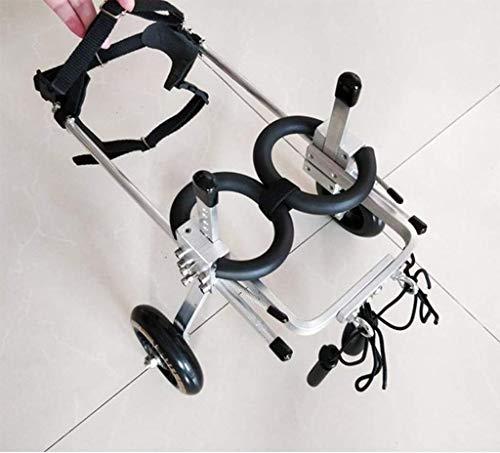 Hond Roller hond rolstoel, hond scooter, revalidatie voertuig van loodlegering, licht en duurzaam Small zwart