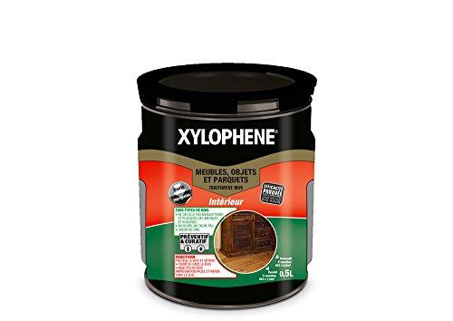 XYLOPHÈNE - Traitement bois intérieur meubles/objets/parquets - Anti Insectes - Traitement Préventif et Curatif - Incolore - 0,5L