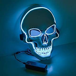 WSJL 2 Halloween LED Chasing Masks, Glowing Masks, Sparkling Masks, Colorful Carnival Masks