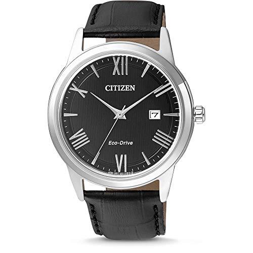 Citizen Reloj Analógico para Hombre de Cuarzo con Correa en Cuero AW1231-07E