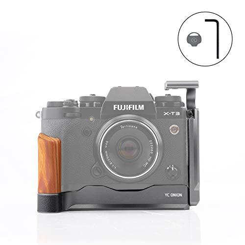 YC Onion L Bracket/L Placa/L Soporte para Fujifilm X-T3 con Placa Arca Swiss de Liberación Rápida Zapata Fría Llave Hexagonal Moneda en Y Plata