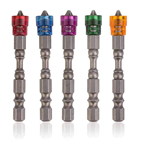 XFKL Phillips Bit, Screwdriver Bit, Magnetic Collar 1/4 Inch Hexagon Handle, Electric Screwdriver Set-5PCS