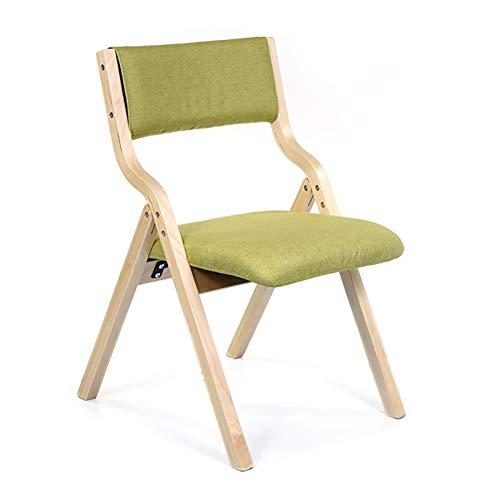 Esszimmerstühle Klappbarer hölzerner Baumwollleinengewebe gepolsterte Auflage mit den hölzernen Beinen und hoher Rückenlehne u. Waschbar Küchenstühle