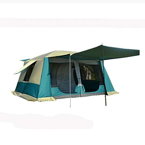 TWDYC 8-12 Person Ultralarge Tent Double Layer Waterproof Windproof Anti Super Strong Camping Tent Large Gazebo (Color : B)