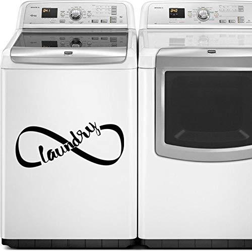 zzlfn3lv Vinilo Etiqueta de la Pared de lavandería es ilimitada Etiqueta de la Pared símbolo Aparato calcomanía lavandería Arte Lavadora Secadora calcomanía Papel Tapiz