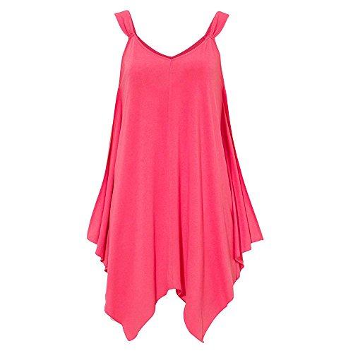 Damen Weste Frauen Sommer beiläufiges V Ausschnitt T Shirt ärmellose Trägershirts Bluse Hemd Sweatshirt Oberteil Tops