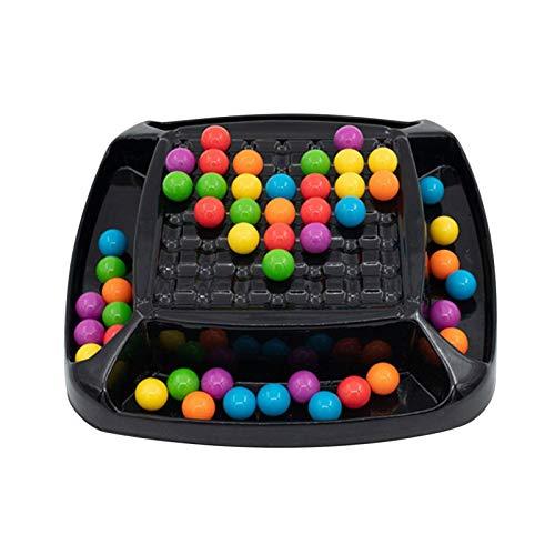 Juguetes a juego Rainbow Ball Ajedrez mágico Rainbow Color Match Toys, Juego de eliminación Colorido Divertido Rompecabezas Juego de tablero de ajedrez Juguetes educativos Regalo para niños y niñas