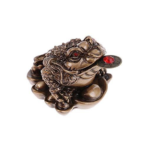 CXJJ Chine Feng Shui Traditionnel Argent Chanceux Fortune Oriental Chinois Richesse Grenouille Crapaud Monnaie Décor Grand Cadeau Bureau Chambre à Domicile Salon (Color : B)