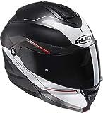 HJC IS-MAX II MAGMA Klapphelm matt schwarz/weiss MC1SF XXL