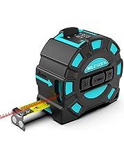Laserafstandsmeter Mileseey IP54 Lasermaatregel met 2 Bellenniveaus, Draagbare Laserafstandsmeter Digitale Afstandsmeter met 4-regelig LCD-scherm en Grotere Heldere Achtergrondverlichting