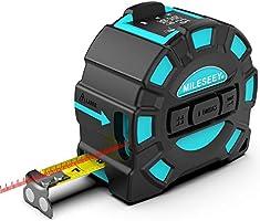 Laserafstandsmeter Mileseey IP54 Lasermaatregel met 2 Bellenniveaus, Draagbare Laserafstandsmeter Digitale Afstandsmeter...