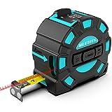Metro Laser,Mileseey USB Ricaricabile Misura di Nastro Laser, 40M Misuratore di Distanza Laser e 5M Metro a Nastro, Misuratore di Portata Digitale con Handheld Portatile con Display LCD HD