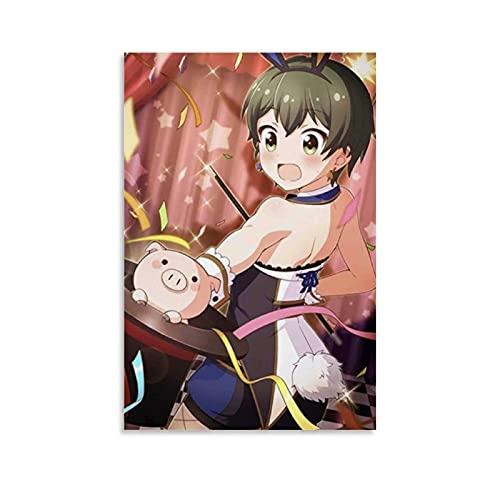 HAPPOW Póster de anime de Battle Girl High School - Lienzo decorativo para pared de salón, dormitorio, 50 x 75 cm