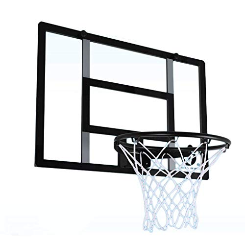 YC electronics Eisenrahmen Basketball Board - Wandmontierte Erwachsene Home Indoor Outdoor-Kinder Backboard Basketball-Reifen (Color : Black)