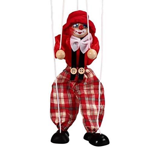 GFPR Pull String Puppet Kinder Holz Marionette Spielzeug für Eltern-Kind Interaktives Spielzeug, 43cm Marionette - C
