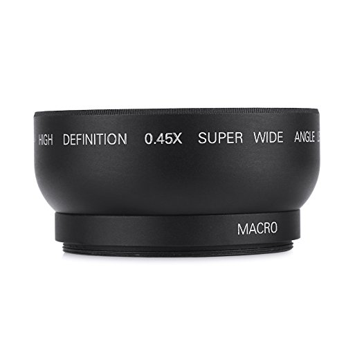 Tonysa für Spiegelreflexkameras und Digitalkameras 0,45-Fach Objektiv 52 mm 0,45-Fach Weitwinkel Universal Conversion Macro Lens