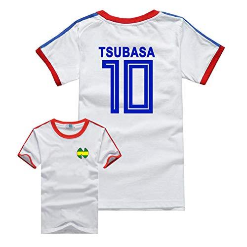 PANQQ Anime Kapitän Tsubasa Cosplay Männer Frauen Kostüm Tsubasa Ozora Nankatsu Grundschule Kurzarm Fußball Trikot Kinder T-Shirt Party Halloween