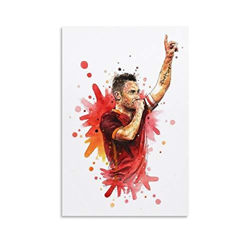 Poster su tela con DRAGO VINES Roma Calcio Francesco Totti, 60 x 90 cm
