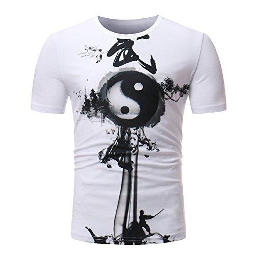 Heren painted design vrije tijd korte mouwen mode T-shirt