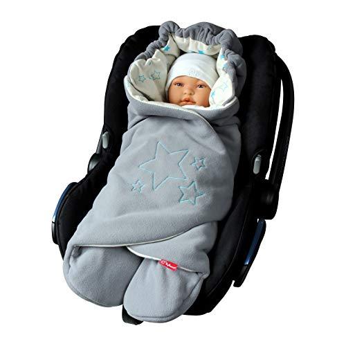 ByBoom Baby Einschlagdecke für die Übergangszeit und Sommer für Babyschale, Autokindersitz, z.B. Maxi-Cosi, Römer, für Kinderwagen, Buggy, Babytrage, z.B. Manduca, Babybett