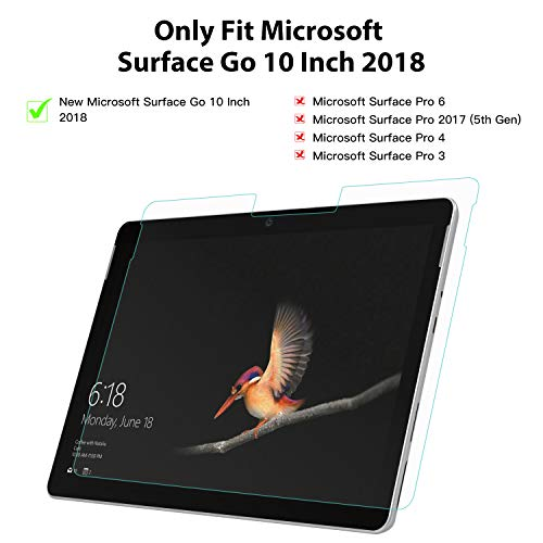 MoKo Entspiegelte Displayschutzfolie Kompatibel mit Surface Go, Blasenfreie Matte Schutzfolie Anti-Fingerabdruck Folie Ersatz für Surface Go 10 inch 2018 Tablet - Transparent