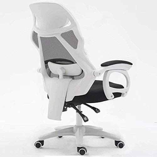 DBL Ergonomic Mesh Office Chair, High Back Connect USB to Start The Built-in Massage Computer Desk Chair Ideal for Home Office Office Chair Desk Chairs (Size : Black)