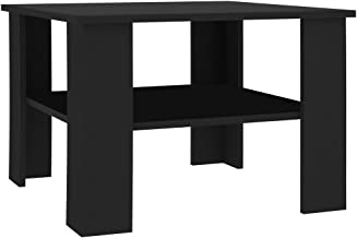 vidaXL Coffee Table Chipboard Couch Side Table Living Room Cocktail Tea Table Laptop Holder Accent Table Home Office Furni...