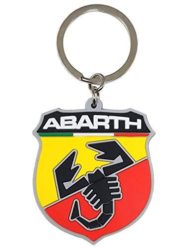 Abarth 21754Suave al tacto, escudo Key Ring.