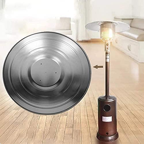 LIUZKH Calentador de patio reflector escudo universal accesorios de repuesto de aluminio redondo extraíble de enfoque de calor superior reflector escudo para calefacción de gas natural y propano