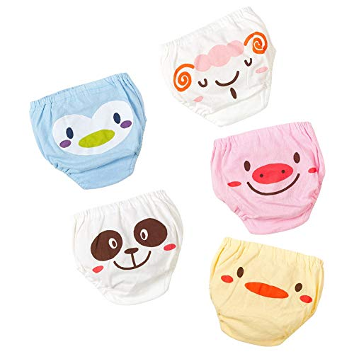 Gyratedream Gyratedream Schlüpfer Baby 5 Pack Baumwolle Unterwäsche Briefs Kinder Cartoon Gedruckt Unterhose Slips Schlüpfer 0-4 Jahre alt