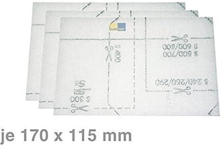 3 x ORIGINAL Filter Filtermatte Staubraumfilter Staubsauger Miele 6713110