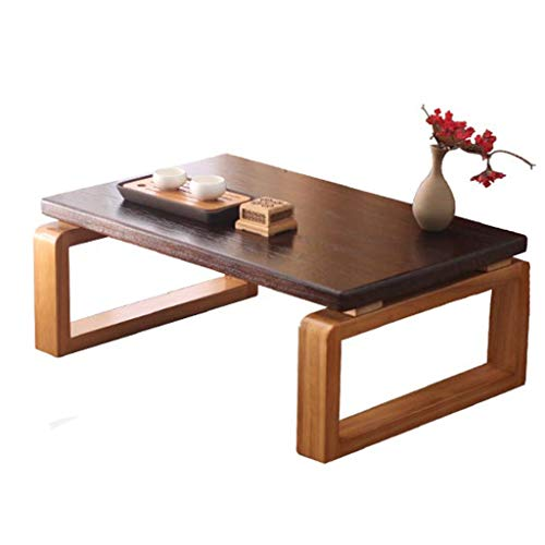 Chi Cheng Fang Electronic business Balcony Coffee Table Home Tatami Table Bay Window Low Table Study Computer Desk Can Be Used For Reading And Leisure (Color : Brown, Size : 60 * 40 * 25cm)