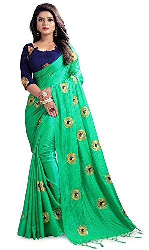 RR Crafts&Crerations - Saré bordado de seda para mujer, con blusa, vestido de fiesta étnico, sari tradicional, vestido de fiesta