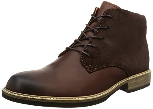 ECCO Men's Kenton Plain Toe Chukka Boot, Mink/Mocha, 41 EU/7-7.5 M US