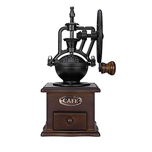 ZNXZZ Grande roue de moulin à café manuel vintage design céramique rétro avec mouvement grand moulin à café de grain moulin manuel