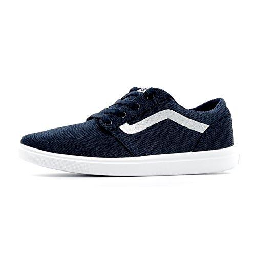 VANS CHAPMAN LITE A38J3LOK blu scarpe bambino sneakers light tessuto 39