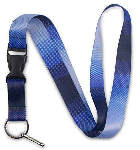 Limeloot Blue Lanyard with Release Buckle and Key Chain Holder