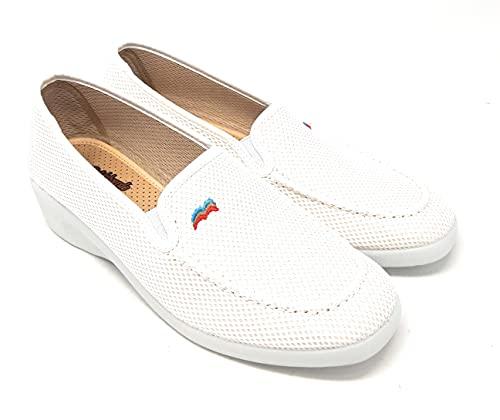 ZAPATILLAS DE CASA DEVALVERDE 763 BLANCO.Zapatillas para mujer muy comodas,relajantes,termoestables,antibacterias,antideslizantes.. (BLANCO, 37 EU, numeric_37)