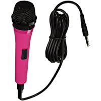 Singing Machine SMM205P Uni-Directional Dynamic Microphone with 10-Foot Cord (Pink)